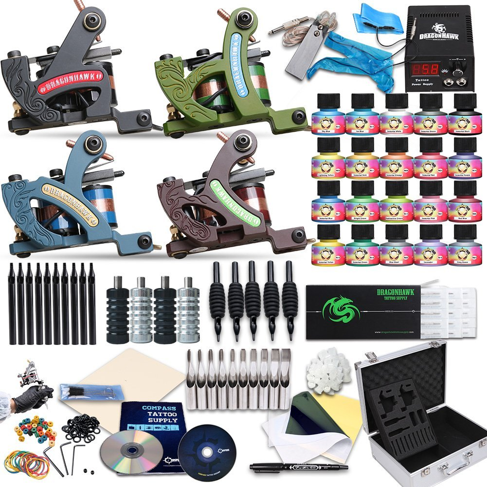 Top 10 best tattoo kits for Pirate face grinder tattoo kit